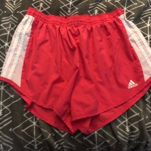 Adidas pink exercise shorts